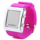 Fashion Sports Water Resistant Red LED Display Digital Wrist Watch - Purple (1 x CR2032)