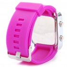 Moda Esportes Resistente à água Red LED Display Digital Wrist Watch - Deep Pink (1 x CR2032)