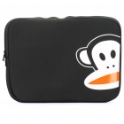 "Stylish Protective Soft Carrying Bag for 14"" Laptops - Black + White"