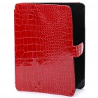Protective PU Leather Case with Cover for   Ipad - Red