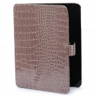 Protective PU Leather Case with Cover for Apple iPad - Grey