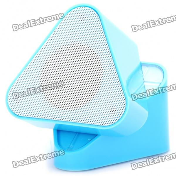 USB Rechargeable Rotating TF/USB MP3 Music Speaker - Blue (3.5mm Jack)
