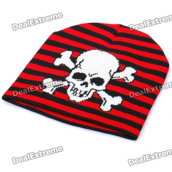 cool-skull-pattern-woolen-knitted-hat-black-white-red