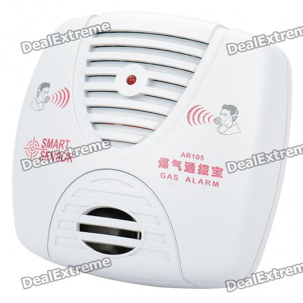 Smart Sensor LP-Gas Alarm Detector - White digital combustible gas analyzer hand held port flammable gas leak detector with sound light alarm battery