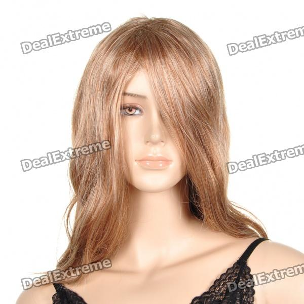 Fashion Long Curly Hair Wigs - Gold + White