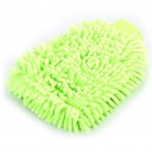 Chenille Fiber Car Washing Gloves - Light Green