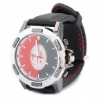Stylish Football/Soccer Team Emblem Wrist Watch - AC Milan (1 x 377S)
