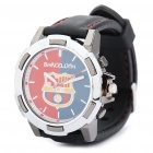 Stylish Football/Soccer Team Emblem Wrist Watch - Barcelona (1 x 377S)