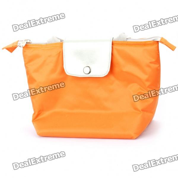 Fashion Insulating Lunch Picnic Handbag - Orange denim lunch bag kid bento box insulated pack picnic drink food thermal ice cooler leisure accessories supplies product