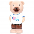 Cute Bear Toy Detachable Coin Bank - White + Brown