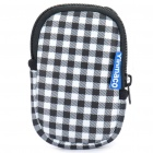 Plaid Style Multi-Purpose Protective Bag with Carabiner Clip & Strap for MP3/MP4/Cell Phone/Camera