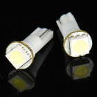 T5 12V White 1-LED Car Dashboard Light Bulb (Pair)