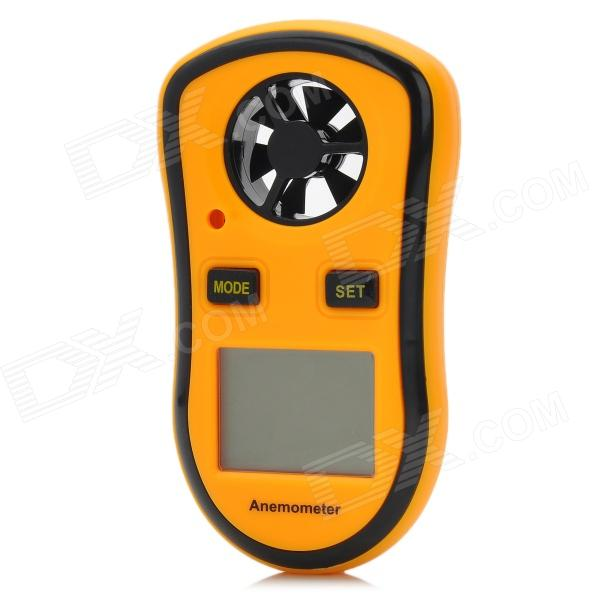 "1.5"" LCD Digital Wind Speed Meter Anemometer (Yellow + Black)"