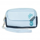 Cat Pattern Storage Pouch Bag for Cell Phone/MP3/MP4/Small Gadgets - Light Blue