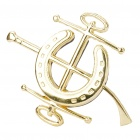 TR05 Decorative Car Zinc Alloy Badge Emblem Sticker - Gold