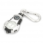 Glow-in-the-Dark Sports Watch with Compass + Carabiner Clip + White Light (Random Color)