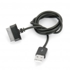 Car Cigarette Powered Charger with Data/Charging Cable for Samsung P1000 - Black