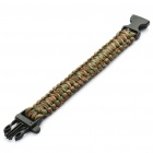 Survival Nylon Bracelet with Whistle - Camouflage