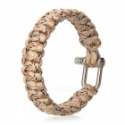 Survival Nylon Bracelet with Stainless Steel Buckles - Beige + Black