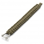 Survival Nylon Bracelet with Stainless Steel Buckles - Green