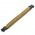 Survival Nylon Bracelet - Brown