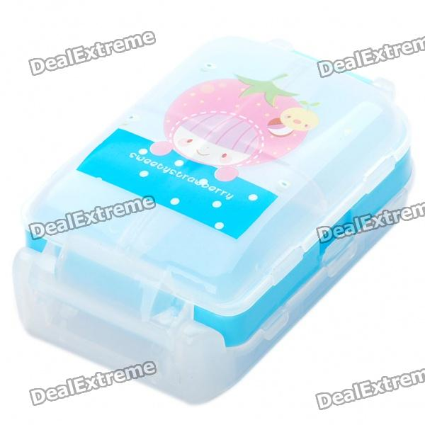 Cute 8-Compartment Medicine Pill Storage Box - Random Color