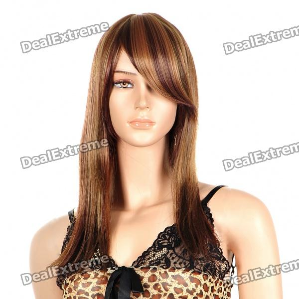 Fashion Long Hair Wigs - Mix Color fashion long curly hair wigs gold black