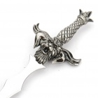 Sword Shaped Zinc Alloy + Stainless Steel Letter Opener - Silver