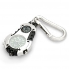 Glow-in-the-Dark Sports Quartz Watch w/ Compass, Carabiner Clip, White Light (Random Color/1 x 377)