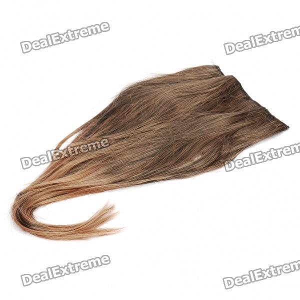 Fashion Long Straight Synthetic Fibre Hair Wig - Black + Yellow