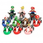 Super Mario PVC Carts - Random Color (10-Figure Set)