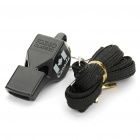 Professional ABS Plastic Whistle with Lanyard - Black
