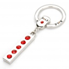 Buy Alloy Plated Bole Vehicle Keychain - Silver + Red