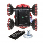 Unique Monster Style R/C Stunt Car w/ Remote Controller - Black + Blue + Red (40MHz)