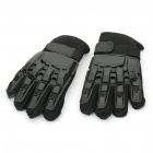 Cool Protective Plastic Shell Fiber Gloves for War Game (Pair/Size-L)