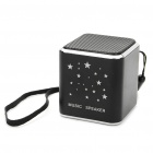 Portable Rechargeable MP3 Player Speaker w/ TF/Mini USB/Strap - Black