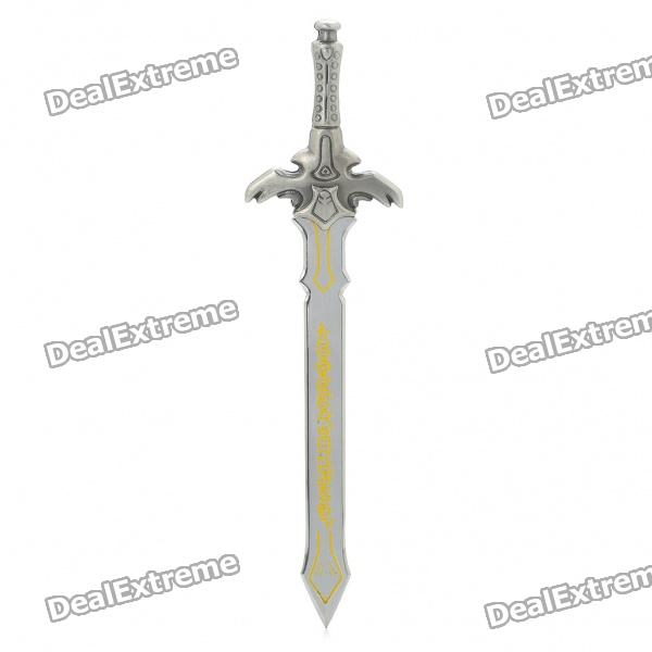 Stylish Sword Shaped Stainless Steel + Zinc Alloy Letter Opener