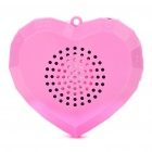 Mini Heart Shaped USB Rechargeable Speaker with TF Slot (3.5mm Jack)