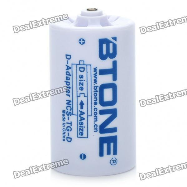 Btone 1*AA to D Battery Converter Case - White