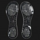 Comfortable Silicone Foot Insole Pads - Translucent (Pair)