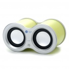 USB Rechargeable Dual Speaker with FM/TF Slot - Shining Green (3.5mm Jack)