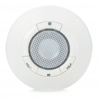 USB Rechargeable UFO Mini Speaker With TF Slot - White (3.5mm Jack)