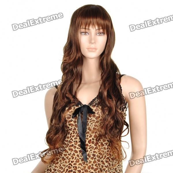 Fashion Long Curly Hair Wigs - Gold + Black