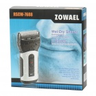 ZOWAEL Waterproof Rechargeable Dual-Blade Shaver Razor w/ Trimmer (220V)