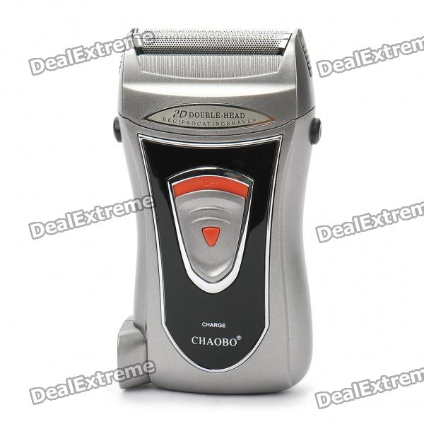 CHAOBO Rechargeable Dual-Blade Shaver Razor w/ Trimmer/Carrying Pouch (220V) духи