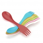 Colorful ABS 3-in-1 Knife/Fork/Spoon Set (6-Piece)