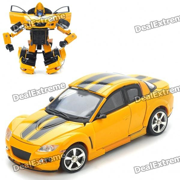Transformers Car Vehicle to Robot Figure Toys (Yellow) car transformers deformation robot transformers bumblebee model car toys for children