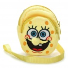 SpongeBob Style Dual Zippers Change Purse Coin Pouch Bag - Yellow