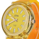 Stylish Water Resistant Wrist Watch - Yellow (1 x 377)