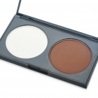 Cosmetic Makeup 2-Color Face Powder Kit with Mirror